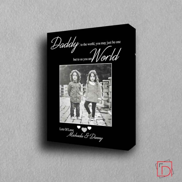 Personalised Daddy You are My World Framed Gift