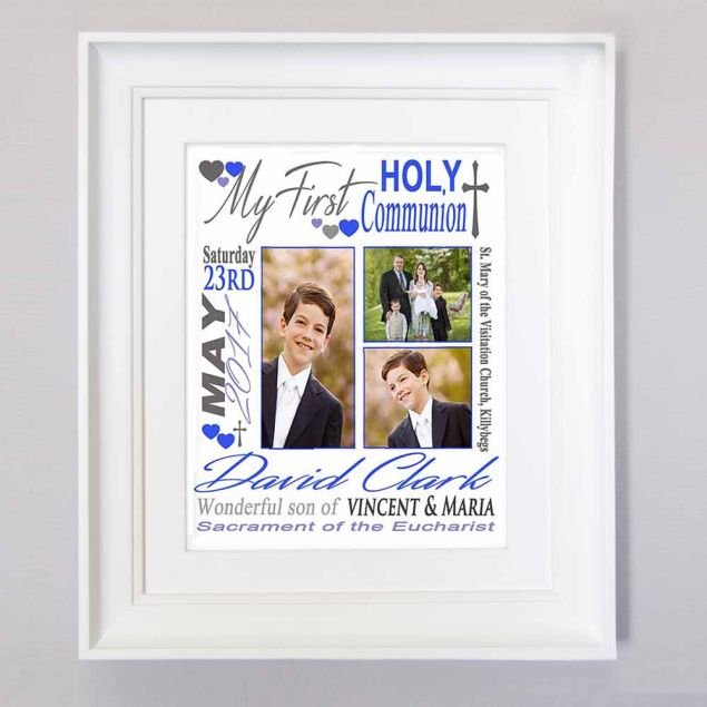 Personalised First Holy Communion Trio Sentiment Framed Gift