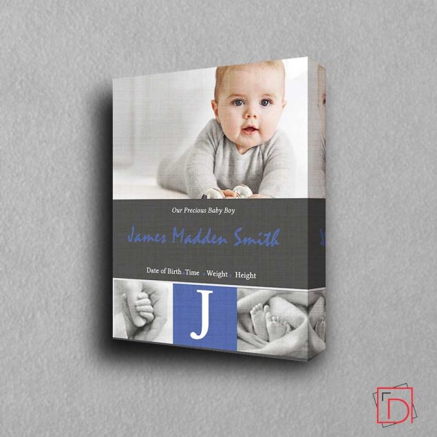 Personalised New Arrival Alphabet Framed Photo Gift