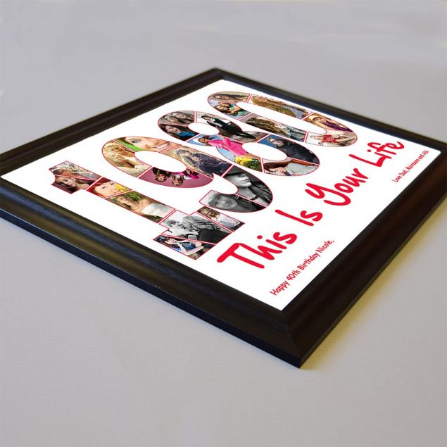 Personalised Year You Were Born Framed Photo Collage