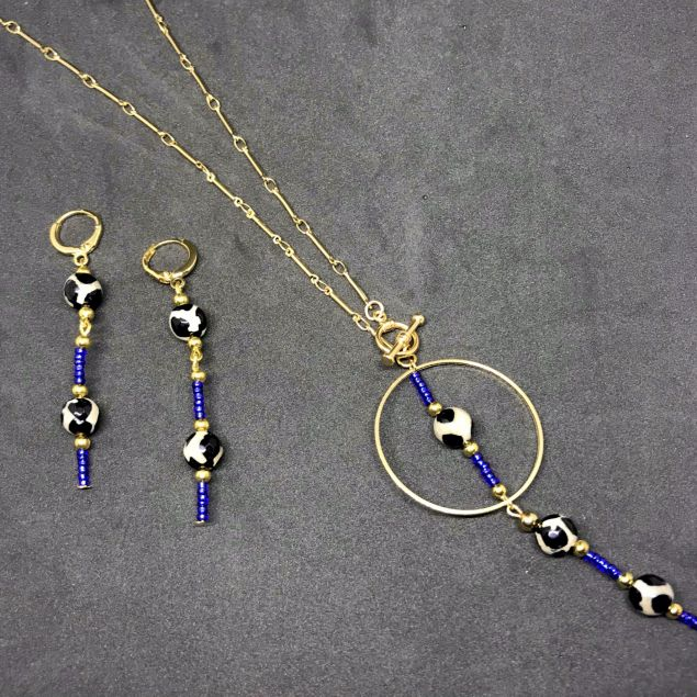 Alicia Necklace Set With Earrings