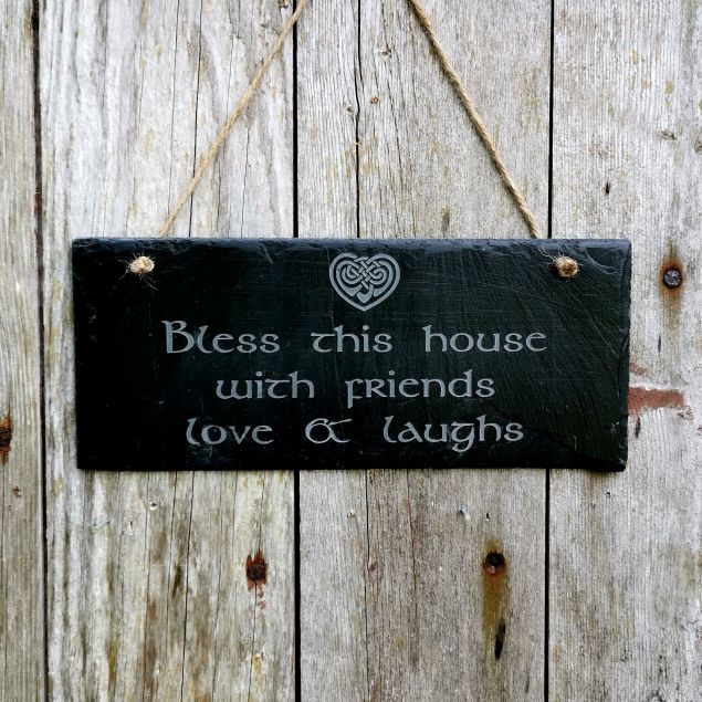 Bless this House Irish Welcome Slate Sign