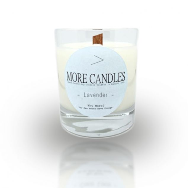Lavender Scented Woodwick Irish Soy Candle