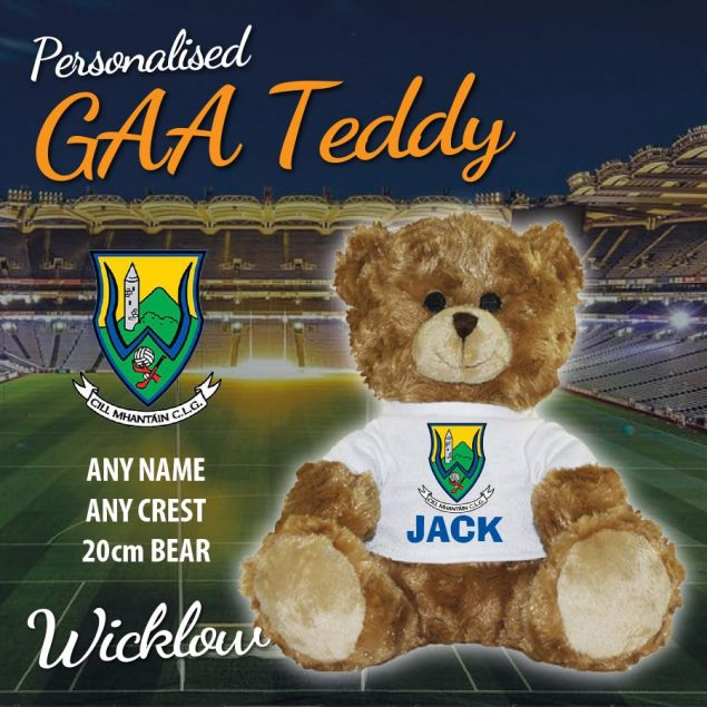 Personalised GAA Teddy Bear with County Crest and Persons Name