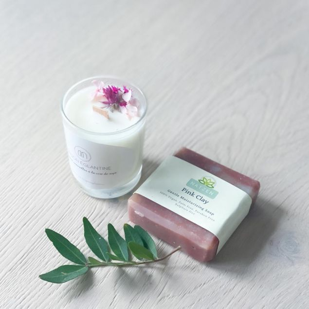Aromatherapy Scented Candle and Soap Gift Set
