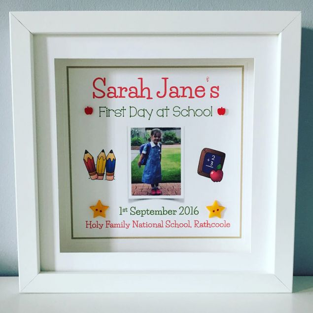 Little Boy or Girl First Day at School Framed Personalised Picture