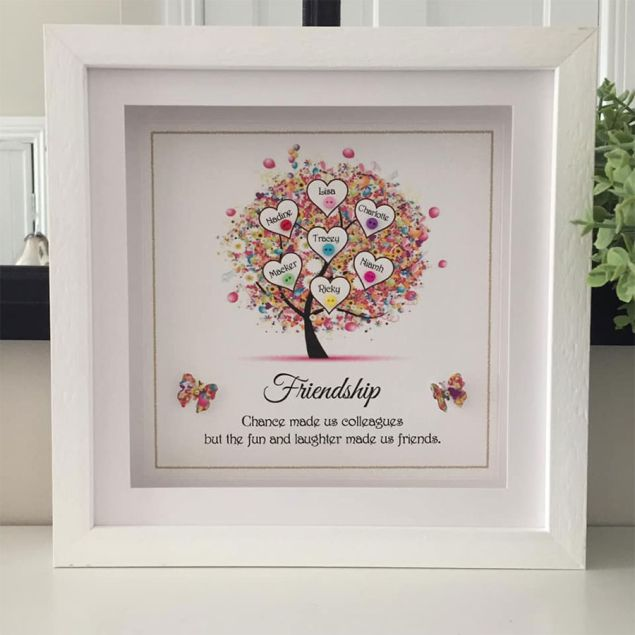 Personalised Best Friends Friendship Tree Framed Picture