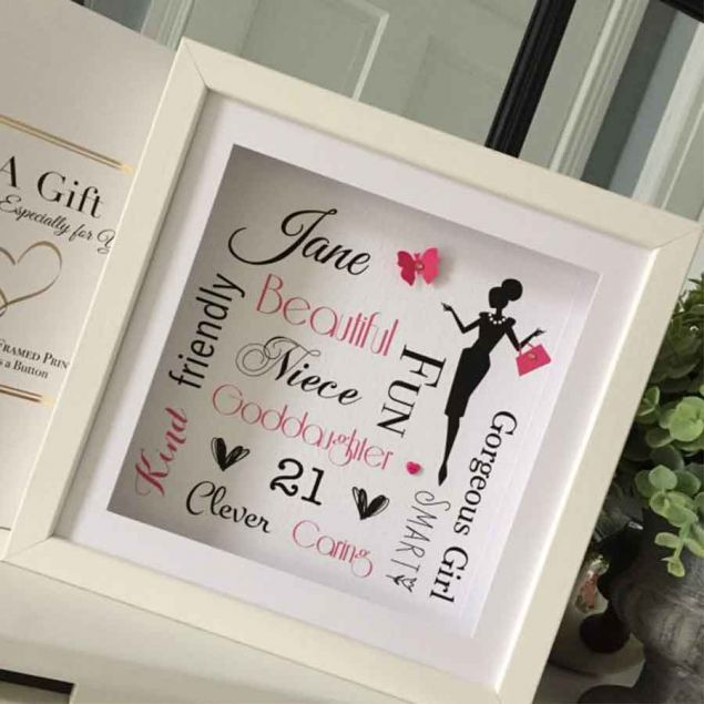Personalised Birthday Girl Frame with Descriptive Words