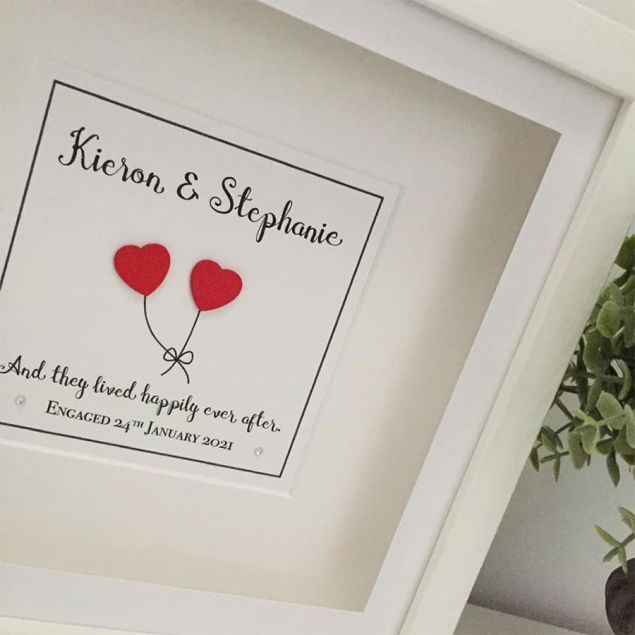 Personalised Love Heart Balloon Frame with Special Quote