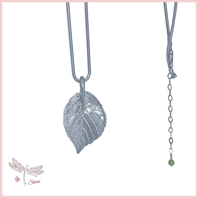 Blackberry Leaf Recycled Silver Necklace