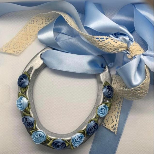 Borrowed and Blue Lucky Charm Wedding Day Gift