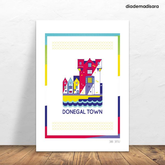 Donegal Town A4 Signed Print