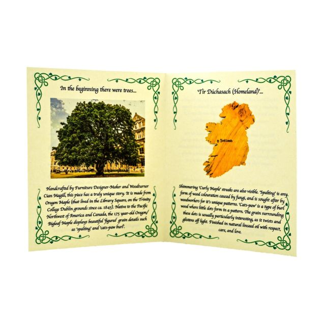 No Place Like Home Personalised Wooden Map of Ireland Wall Art