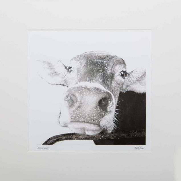 Gorgeous George Mounted Limited Edition Fine Art Cow Print