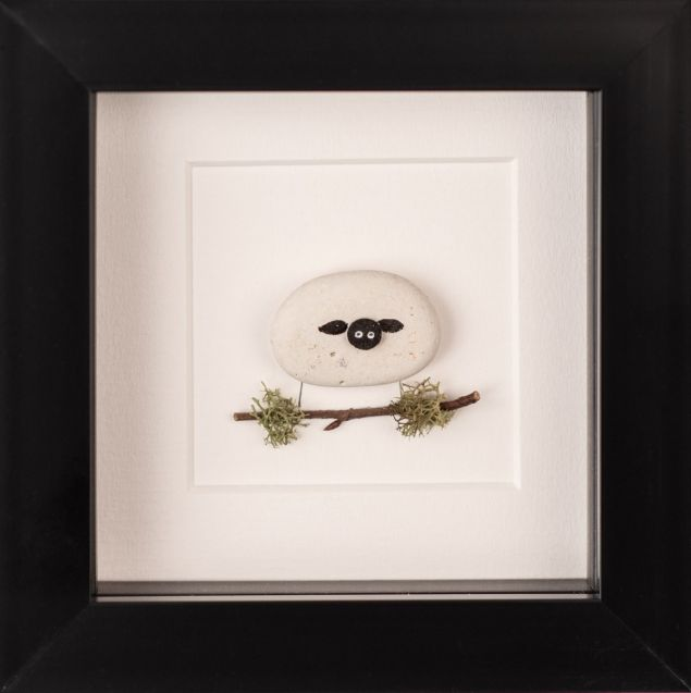 Sheep of Ireland Pebble Art Framed Picture