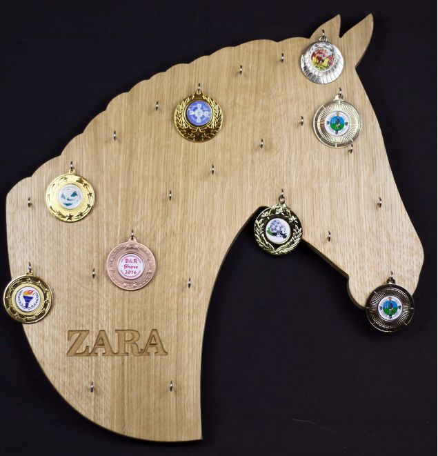 Personalised Horse Head Medal Board with Free Engravement