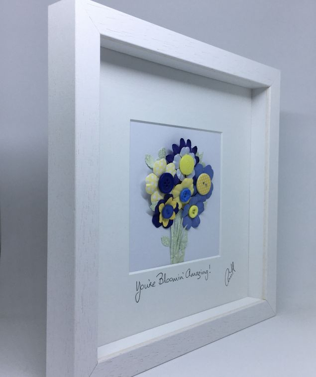 Personalised Thank You Button Frame