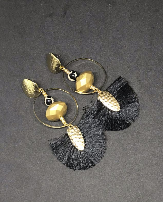 Kathryn Tasselled Dangle Earrings
