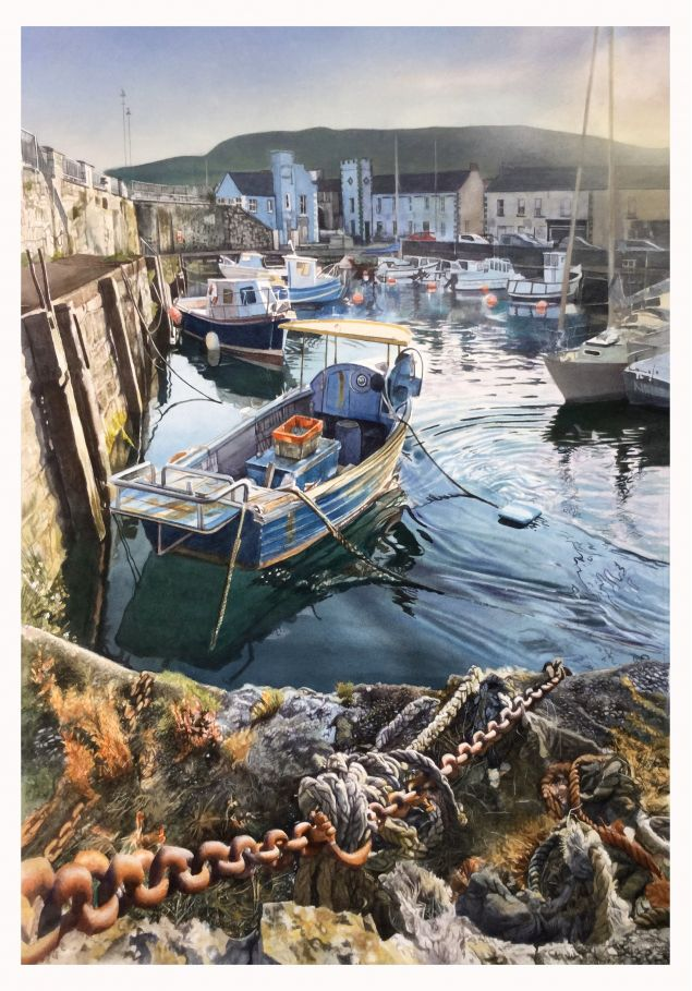 Carnlough on the Antrim Coast Art Print