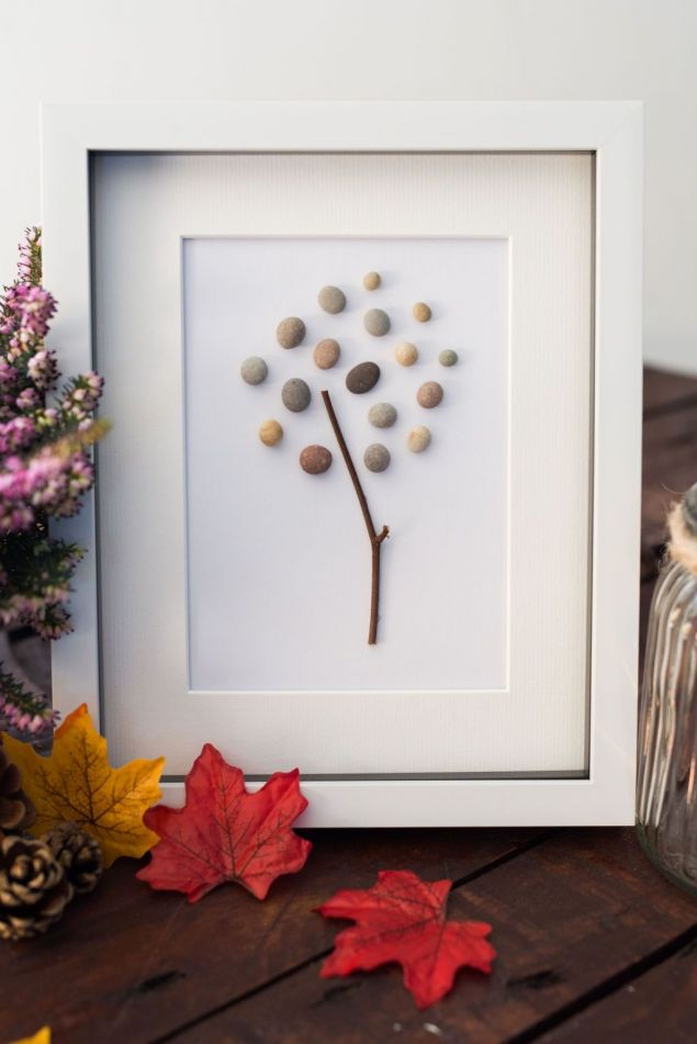 Personalised Tree of Life Pebble Art Framed Picture